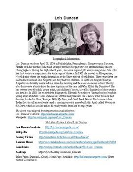 Lois Duncan Handout