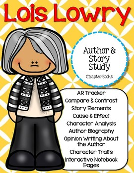 Lois Lowry Author & Book Study {Chapter Books}