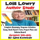 Lois Lowry Author Study, Biography, Reading Response Activ