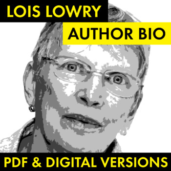 Lois Lowry Author Study Worksheet, Easy Biography Activity, CCSS
