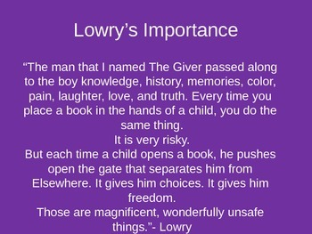 Lois Lowry Biography Presentation