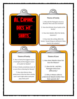 AL CAPONE DOES MY SHIRTS Gennifer Choldenko - THEME Discussion Cards