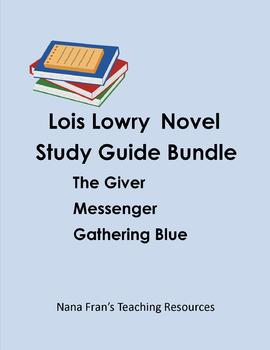 Lois Lowry Novel Study Guide Bundle