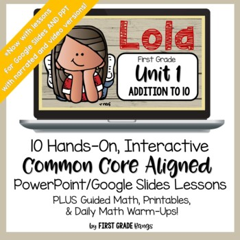 Addition to 10 Guided Math Lessons and Daily Printables with Lola