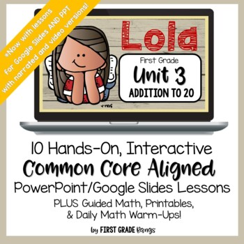 Addition to 20 Guided Math Lessons and Daily Printables with Lola