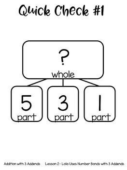 Addition with 3 Addends Guided Math Lessons and Daily Printables with Lola