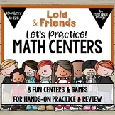 Math Centers Numbers to 120 with Lola