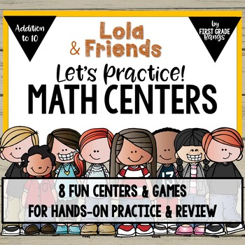 Math Centers for Addition to 10 with Lola