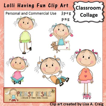Lolli Having Fun Clip Art Color  personal & commercial use