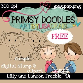 Lolli and Landon 300 dpi clipart