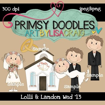 Lolli and Landon Wed 300 dpi Clipart