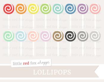 Lollipop Clipart; Easter, Candy, Halloween, Treat, Dessert