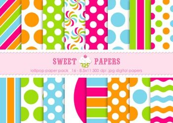 Lollipop Digital Paper Pack - by Sweet papers