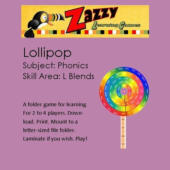 Lollipop Folder Game Phonics l blends