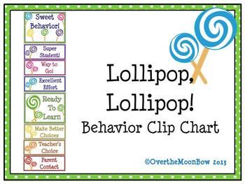 Lollipop, Lollipop! Behavior Clip Chart
