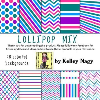 Lollipop Mix Digital Papers