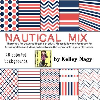 Nautical Mix Digital Papers