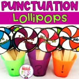 Lollipop Punctuation Sort ELA Center | EDITABLE