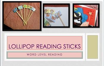 Lollipop Reading Sticks