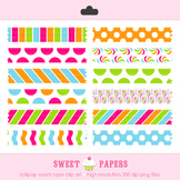 Lollipop Washi Tape Digital Clip Art Set - by Sweet Papers