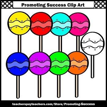 Lollipops Clip Art, Candy Clipart, Sweets Clipart, SPS
