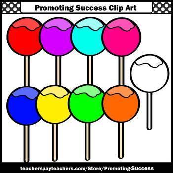 Lollipops Clipart Suckers, Sweets Theme, SPS