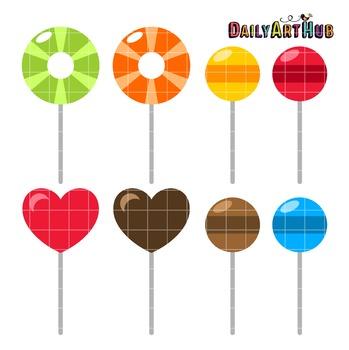 Lollipops Clip Art - Great for Art Class Projects!