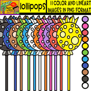 Lollipops - Cliparts Set - 11 Items