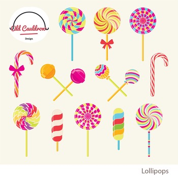 Lollipops clipart, peppermint, sweets clipart, christmas candy clipart CL008