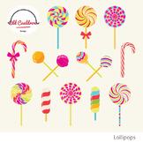 Lollipops clipart, peppermint, sweets clipart, christmas c