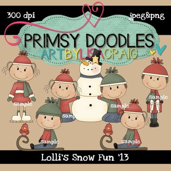 Lolli's Snow Fun 300 dpi clipart