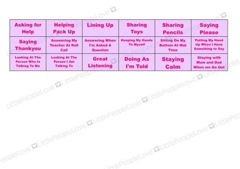 Lolly Reward Chart