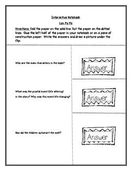 Lon Po Po Worksheets-Common Core Aligned