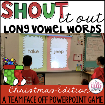 Long Vowel Words: Shout It Out (Christmas Edition)
