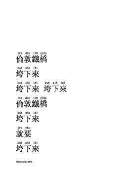 London Bridge is Falling Down-Mandarin Lyrics
