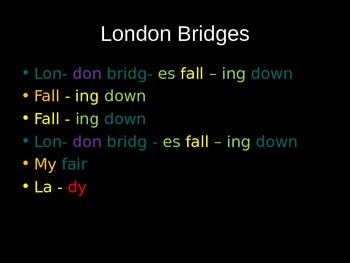 London Bridges for boomwhackers