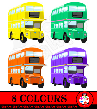 London Bus Transport Clip Art