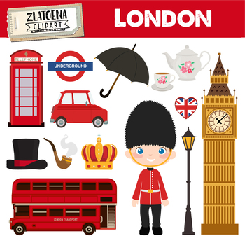 London Clipart British Clipart England graphics Great Britain clipart Travel