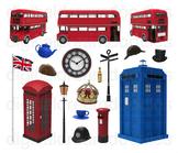 London Clipart - United Kingdom and England Digital Graphics