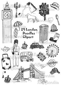 London Doodles Clipart