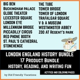 London England History Bundle - History, Fun Facts, Colori