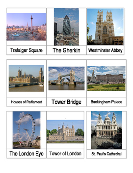 London Landmarks 3-part cards