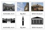 London Landmarks - Montessori Nomenclature Cards and Matching Activity