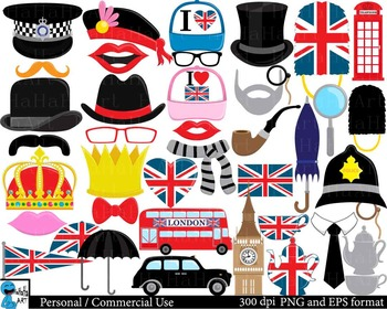 London Props set 1 -  Clip Art Digital Files Personal Commercial Use cod207