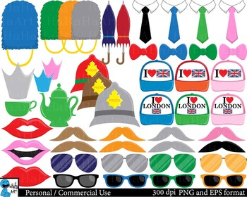 London Props set 2 - Clip Art Digital Files Personal Commercial Use cod208