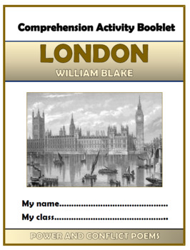 London - William Blake - Comprehension Activities Booklet!