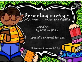 London by William Blake for ESL/Spec. Ed Power and conflict (De-coding poetry)
