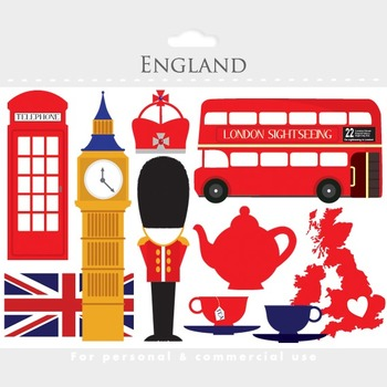 london clipart - england clip art, travel, uk, tea, bus, double