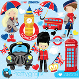 London travel clipart commercial use, vector graphics, digital - CL742