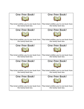 Lonely Book Coupons